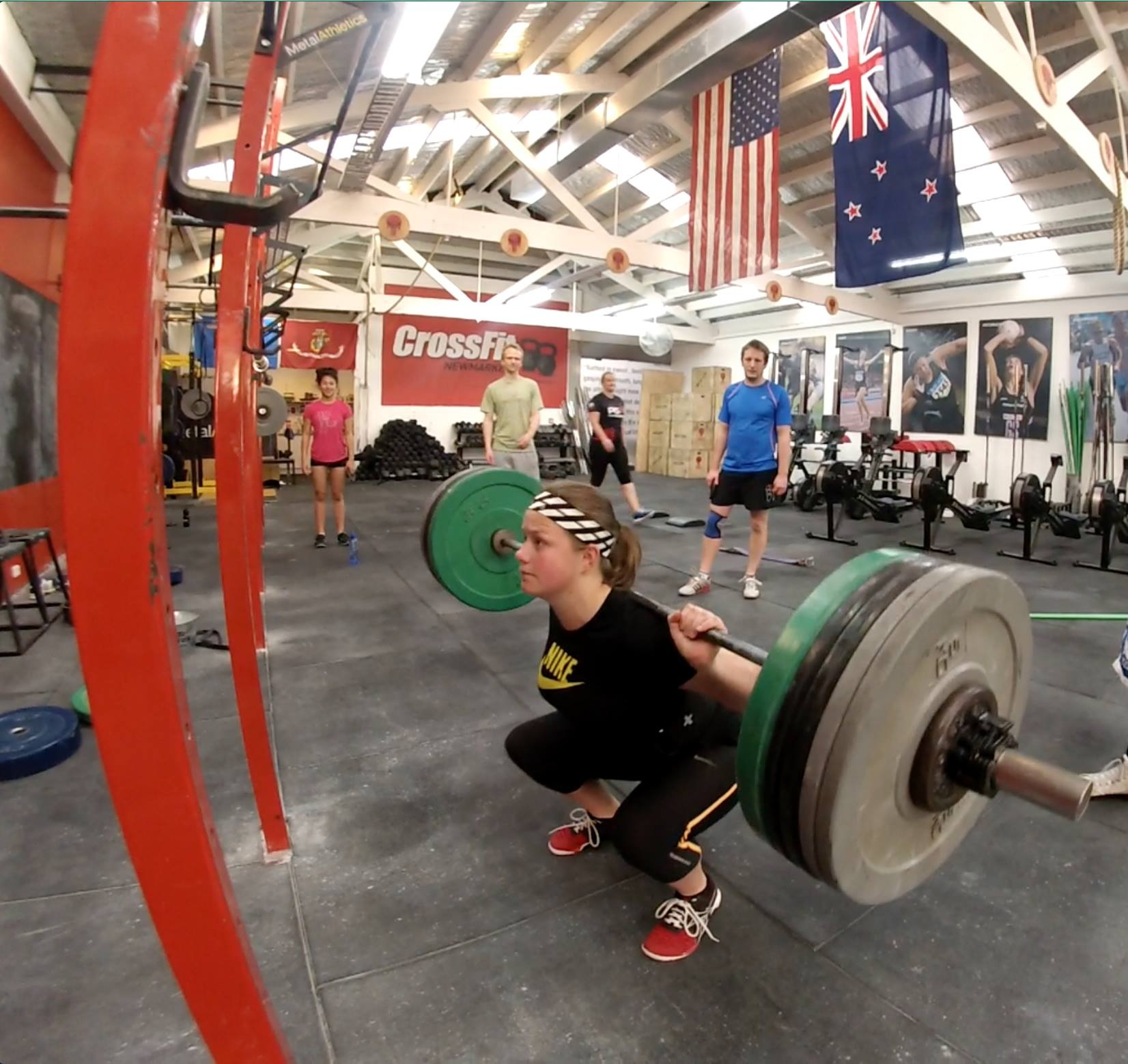 Abbey on the way to an 80 kg back squat in an impressive day with millions of PB's and courageous emotive lifting. Lets all build on the strength we have now and take it to yet another level!