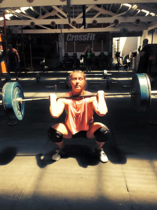 Super Freaky Front Squat Friday! Today we get a little brain stretch on taking last weeks 5 RM and hanging tight for a 4 x 9 reps. Then we go at Grace with rude skipping interruptions every minute..this should be fun in a sick kinda way :-D