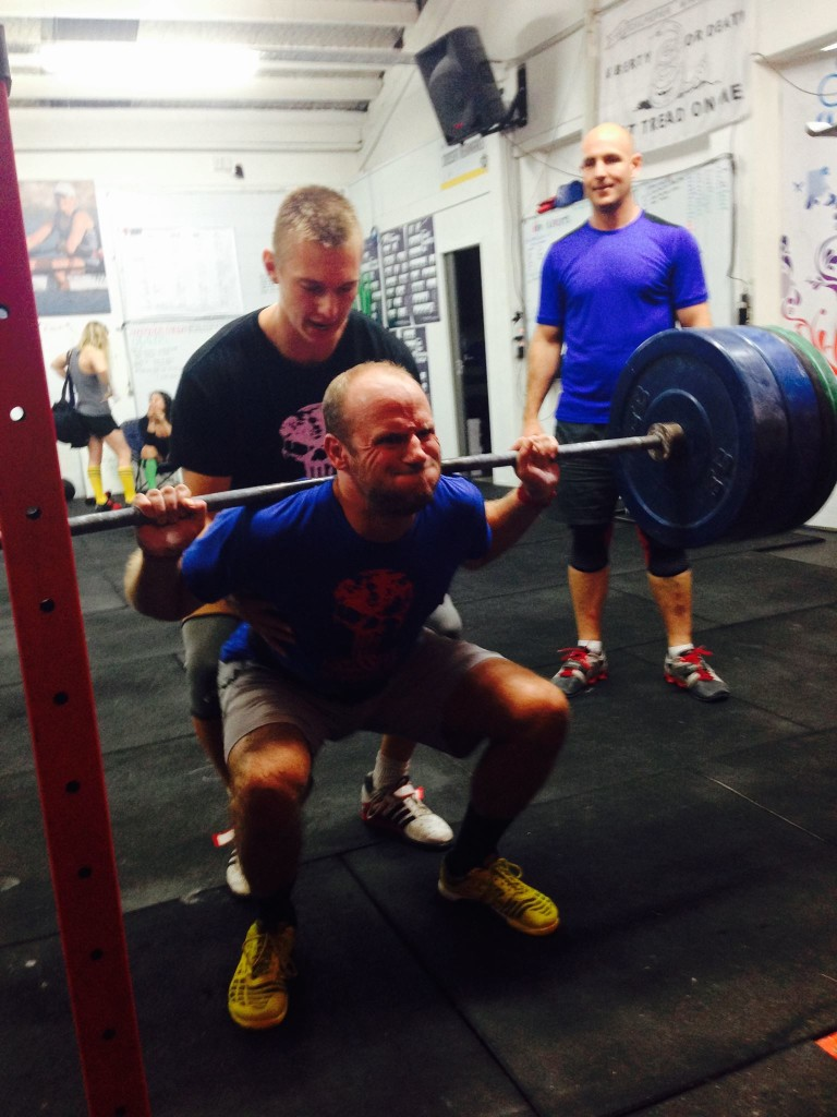 An awesome 1RM back squat and Fran day last Friday. After our testing week we reset the dial and begin our 5 x 5/ 5 x 3's for the next 3 weeks with testing in the 4th week. Good times ahead ;-)